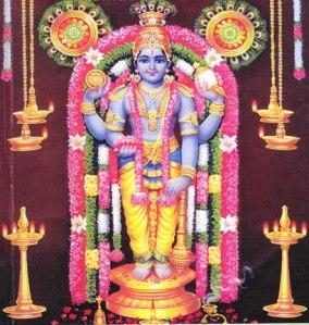 Guruvayoorappan the deity