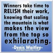 winners relish work