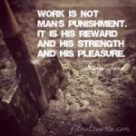 work is not punishment