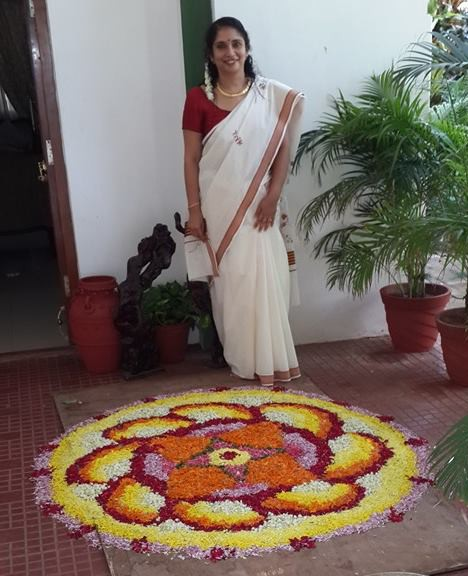 In Traditional White  with my  Flower Carpet