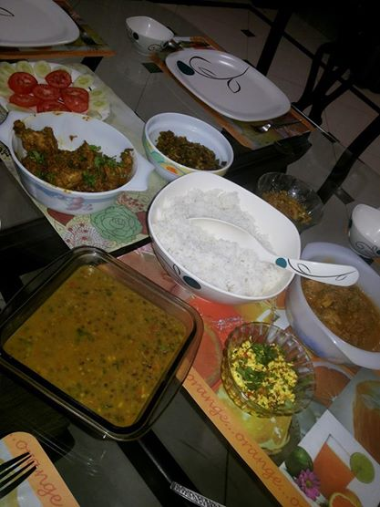 A regular dinner